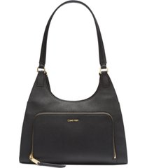 calvin klein ava hobo leather shoulder bag