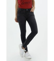 jean para mujer topmark, silueta poppy tiro medio plano y cintura con pretina