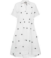 freja dress jurk knielengte wit just female