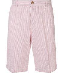 kent & curwen seersucker shorts - red