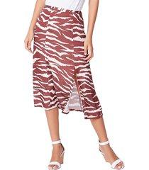 paige women's larsa slip skirt - cherrywood cream - size 6