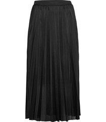 plisse jersey skirt knälång kjol svart mos mosh