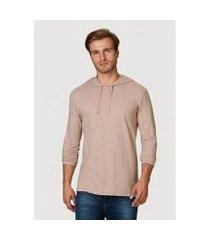 camiseta hering slim em malha de algodão com capuz masculina