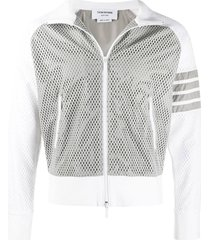 4-bar mesh track jacket light grey