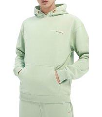 scotch & soda unisex organic cotton hoodie, size medium - green