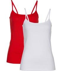 top con spalline sottili (pacco da 2) (rosso) - bpc selection