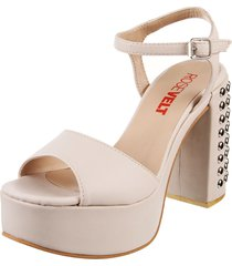 sandalia nude rosevelt shoes brina