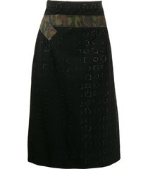 comme des garçons pre-owned 2000's embossed squared belted skirt -