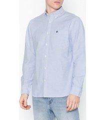 selected homme slhregcollect shirt ls w noos skjortor blå/randig