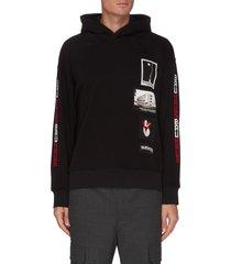 bauhaus graphic print patches hoodie
