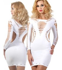 witte stretch jurk