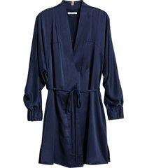 women's lunya washable silk robe, size large/x-large - blue