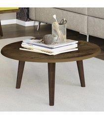mesa de centro redonda brilhante 2074523 rústico - bechara móveis