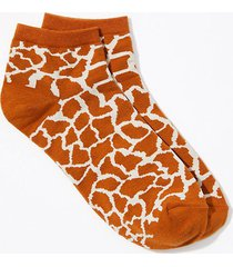 loft animal spotted ankle socks