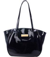 bolso de mano eloisa negro primario especial charol
