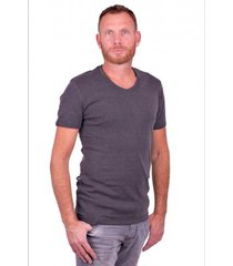 garage t-shirt v-neck semi bodyfit dark grey ( art 0302)