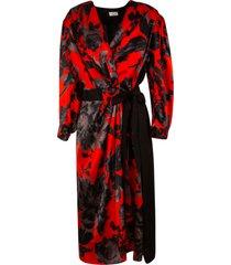 dries van noten belt-tie wrapped dress