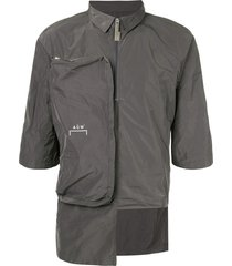a-cold-wall* deconstructed nylon shirt - grey