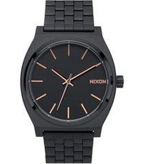 nixon 'the time teller' bracelet watch, 37mm