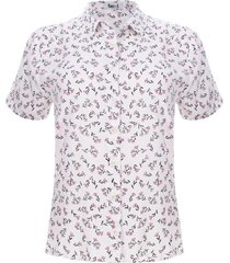 camisa mujer m/c print floral color blanco, talla m