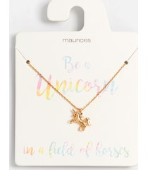 maurices womens dainty gold unicorn pendant necklace