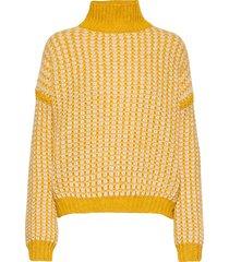 suzannyka stickad tröja gul hugo