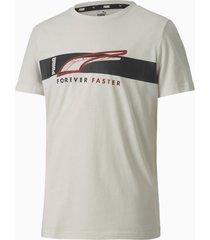 alpha t-shirt met korte mouwen, grijs, maat 128 | puma