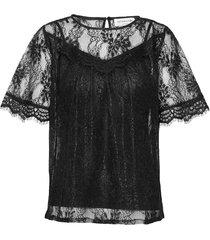blouse 3/4 s blouses short-sleeved zwart rosemunde