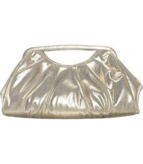 nina dakota pleated top handle clutch
