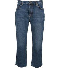 valentino logo straight leg jeans