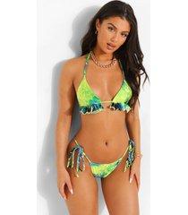 tropicana bikini broekje met zijstrikjes, blue