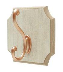 gancho de parede ou porta, cabideiro com 01 gancho em madeira - lojas carisma