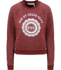 see by chloé college sweatshirt