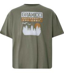 gramicci sunset slit t-shirt   ash   gut21s008bd-as