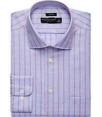 pronto uomo berry check dress shirt