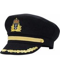 cappello da marinaio nero ufficiale ufficiale stag night fancy dress