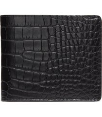 hipster' alligator leather bi fold wallet