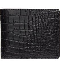 hipster' alligator leather bi fold wallet