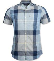 barbour croft short-sleeved shirt / barbour croft short-sleeved shirt, ocean blue, x large