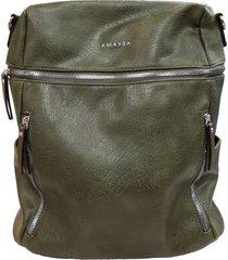 mochila verde amayra 1429 cuero pu