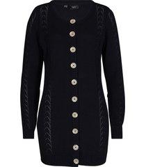 cardigan in maglia traforata (nero) - bpc bonprix collection