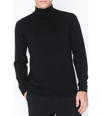 only & sons onsalex 12 detail high neck knit tröjor svart