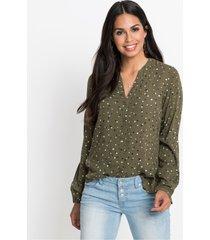 blouse met stippen