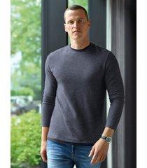 tricot trui met ronde hals van strellson blauw