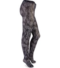 wolford women's speckle-print tights - black - size s