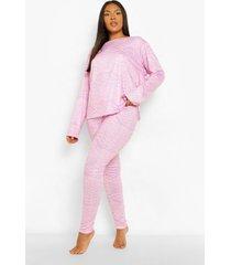 plus zebraprint pyjama set met lange mouwen, lilac