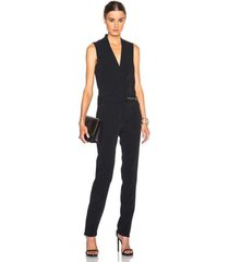sleeveless stretch crepe jumpsuit