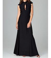 sukienka maxi z krótkim rękawem