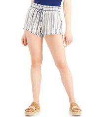 rewash juniors' striped frayed-hem shorts