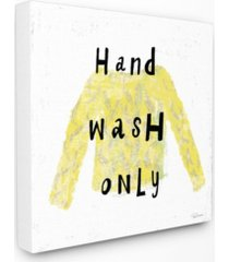 "stupell industries hand wash only yellow sweater canvas wall art, 17"" x 17"""